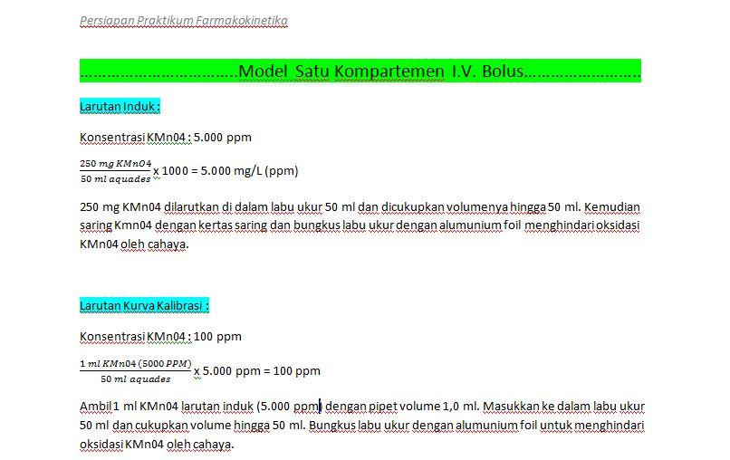 Penuntun Praktikum Farmakokinetik slide 1