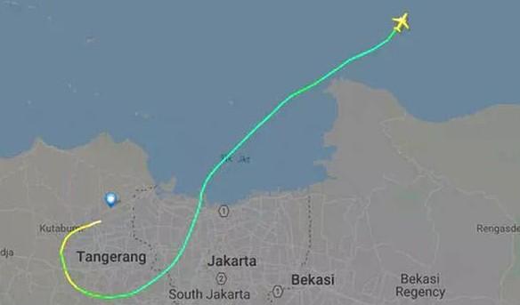 flightpath jt610 lion air - flightradar