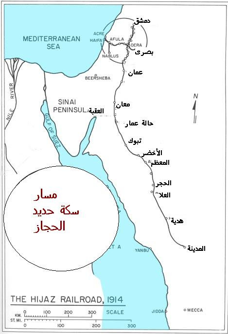 HEJAZ RAILWAY MAP