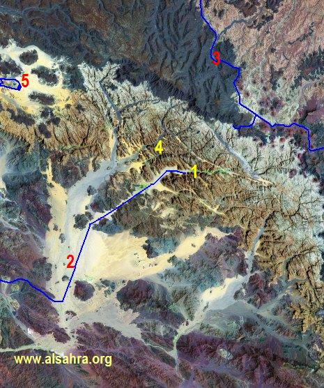 خريطة جوية للديسة وقراقر