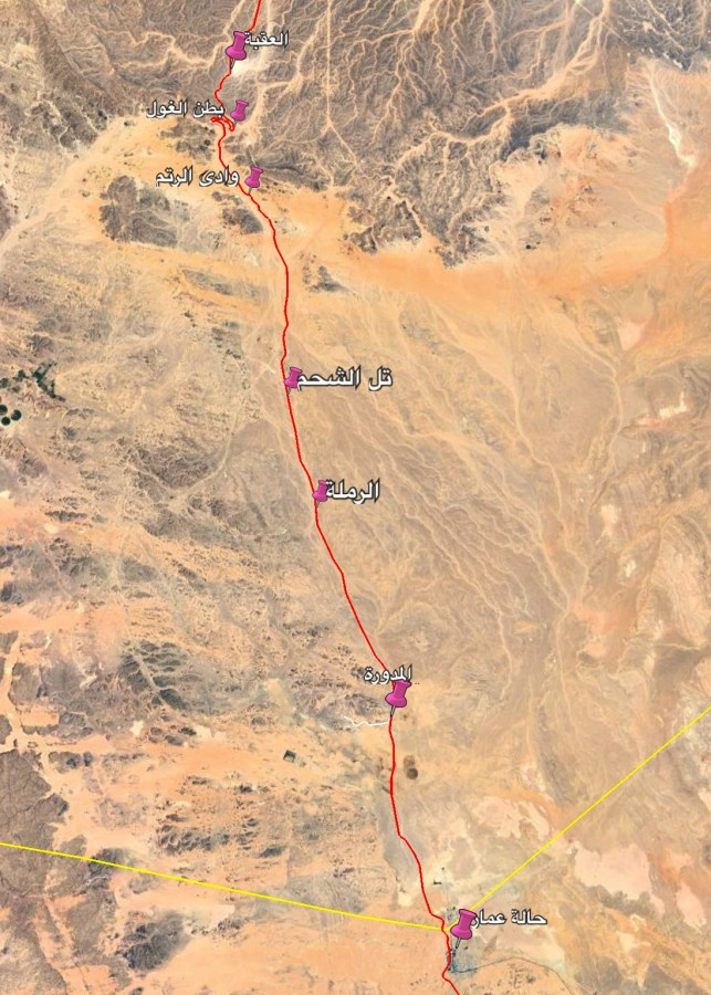 محطات سكة الحديد جنوب الأردن