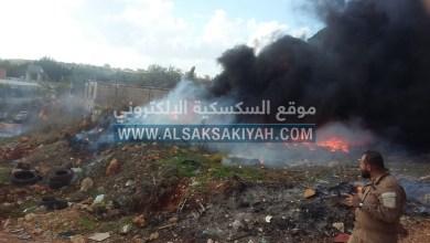 Photo of عاجل:إشتعال إطارات سيارات مرمية بجانب الطريق في بلدة أنصار