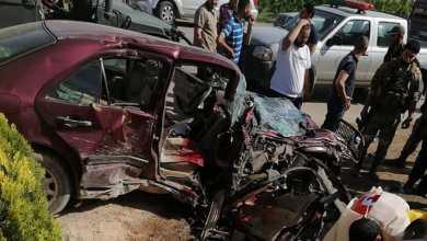 صورة حادث سير مروع يودي بحياة شخص