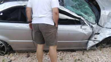 صورة قتيل وجريح بحادث سير مروع على اوتوستراد الناعمة