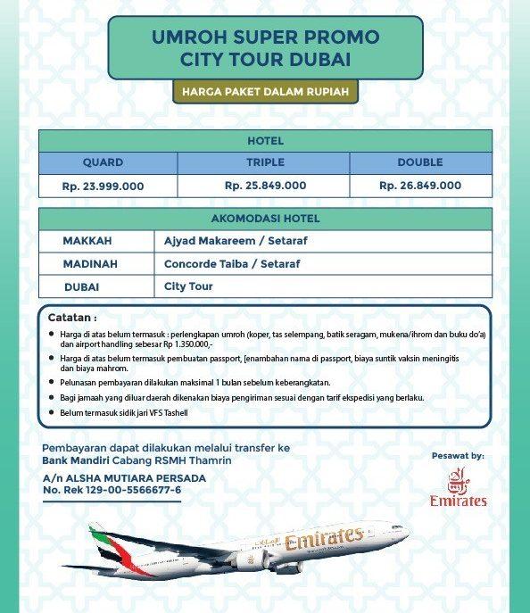 Harga Paket Alsha Tours Super Promo Plus Dubai