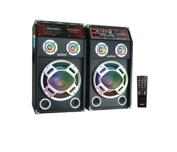 Sanford 2 In 1 Bluetooth Stage Speaker with Mic and LED Display SF2256SS BS