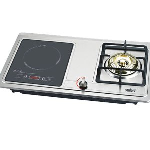 Sanford 2000 Watts Induction Cooker with 3500 Watts Gas Stove – Silver SF5154ICGS BS