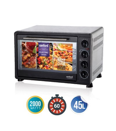 Sanford 2000W Electric Oven - 45 Litre, Black SF5620EO BS