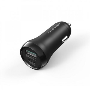 RavPower RP-PC091 36W Car Charger with PD Port & Type-C Port (Black)