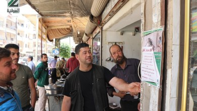 """صورة حملة """"نحن أهل"""" التي أطلقها فصيل أحرار الشرقية تبدأ أعمالها في عفرين"""