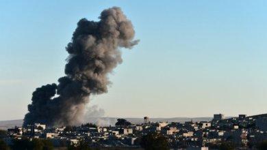 صورة غارات جوية تستهدف مدينة البوكمال شرق ديرالزور