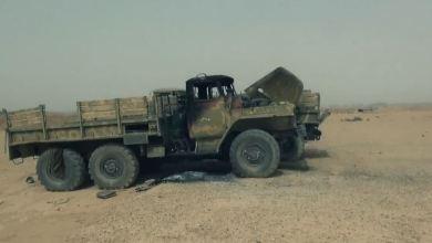 صورة كمين لتنظيم داعش يستهدف مجموعة من ميليشيات الأسد ببادية ديرالزور