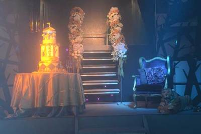 stage design of circus themed debut event