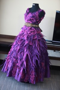violet feathered gown | kiddie party