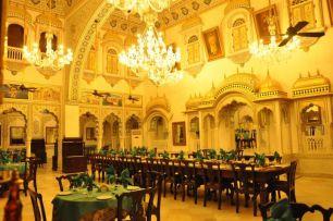 Dining Hall at Alsisar Mahal Shekhawati