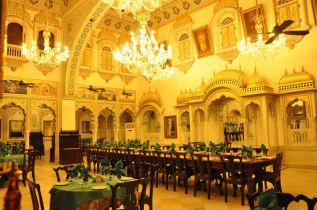 Dining Hall at Alsisar Mahal Shekhawati