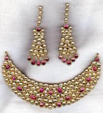 1268921373_81351526_4-polki-gold-kundan-meena-jadau-with-precious-color-stone-studded-jewellery-For-Sale