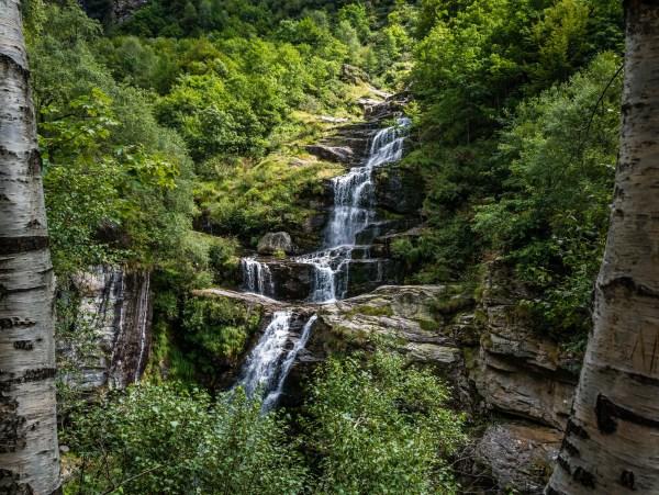 Wasserfall im Val d'Efra