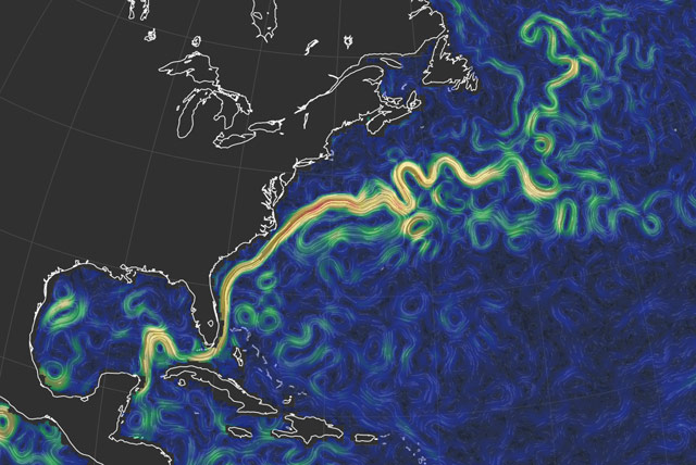 Ocean currents map