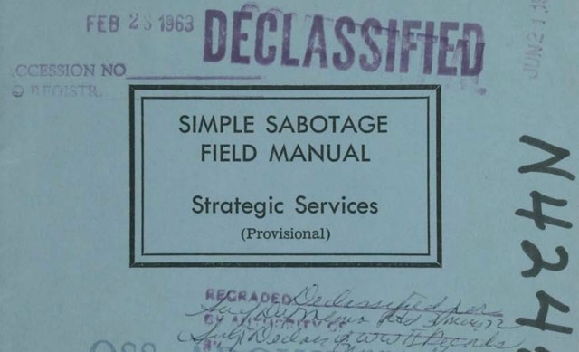 Simple Sabotage Field Manual