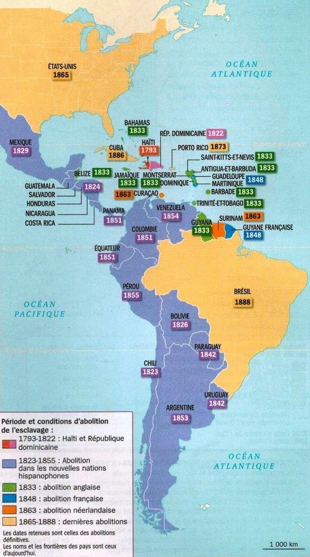 Slavery Abolition Map