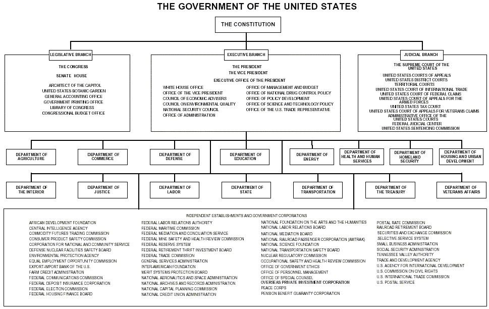US Govt Org Chart