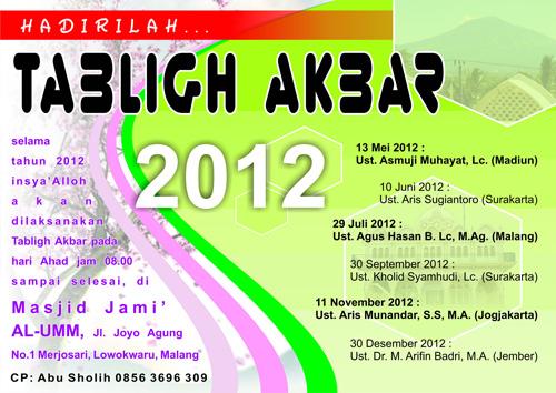 Tabligh Akbar Tahun 2012 Masjid Al Umm Malang