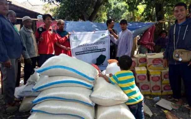 Penyaluran Bantuan Kepada Korban Gempa Lombok