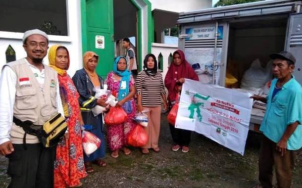 Kegiatan Dakwah dan Penyerahan Bantuan  di Desa Saloya