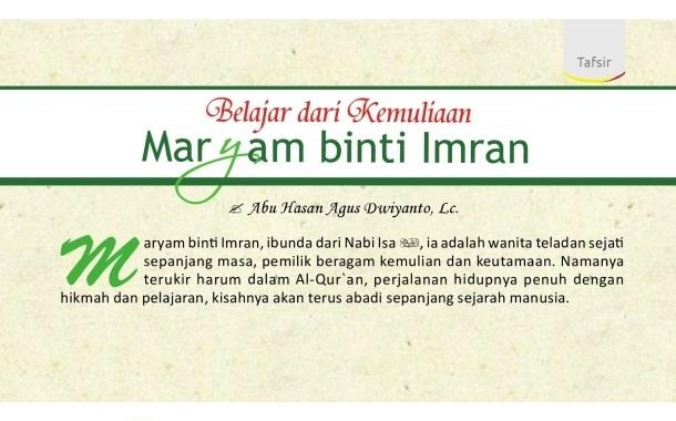 Belajar Dari Kemuliaan Maryam Binti Imran