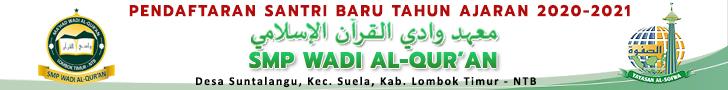 Pendaftaran Siswa Baru SMP Wadi Al-Qur'an TA 2019-2020