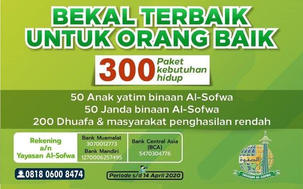 Pendistribusian 300 Paket Kebutuhan Pokok