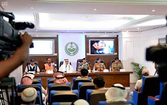 المؤتمر الصحافي المشترك: اكتمال توافد الحجاج إلى مكة والحالة الصحية مطمئنة