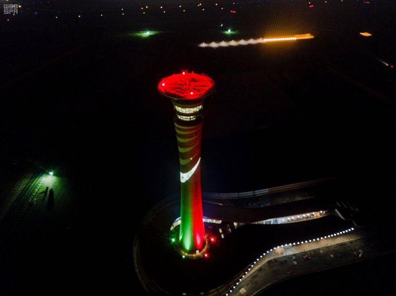مطارات المملكة تشارك الإمارات احتفالها باليوم الوطني الـ47