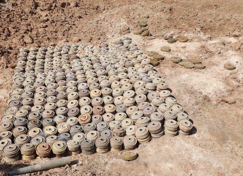 """""""مسام"""" ينزع أكثر من 5 آلاف لغما مضادا للأفراد والآليات في اليمن في أسبوع"""