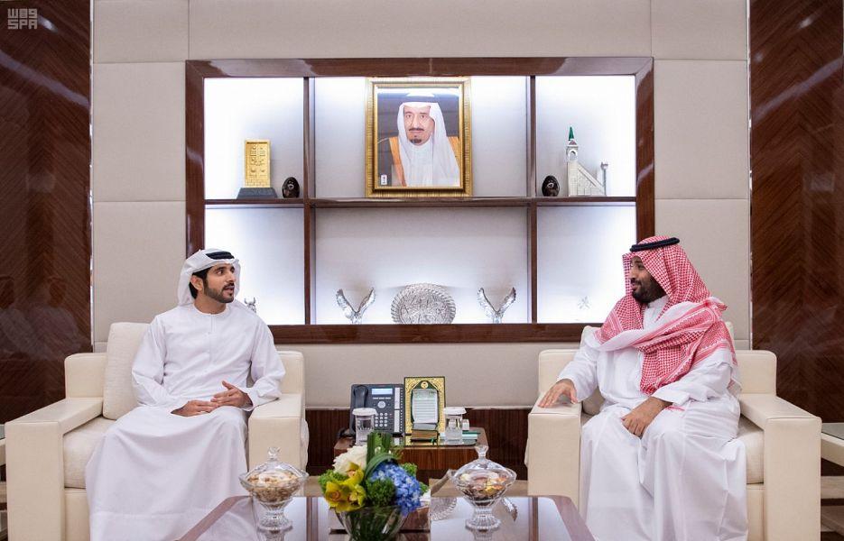 ولي العهد يبحث مع الشيخ حمدان بن راشد الفرص الواعدة لتطوير التعاون بين السعودية والإمارات