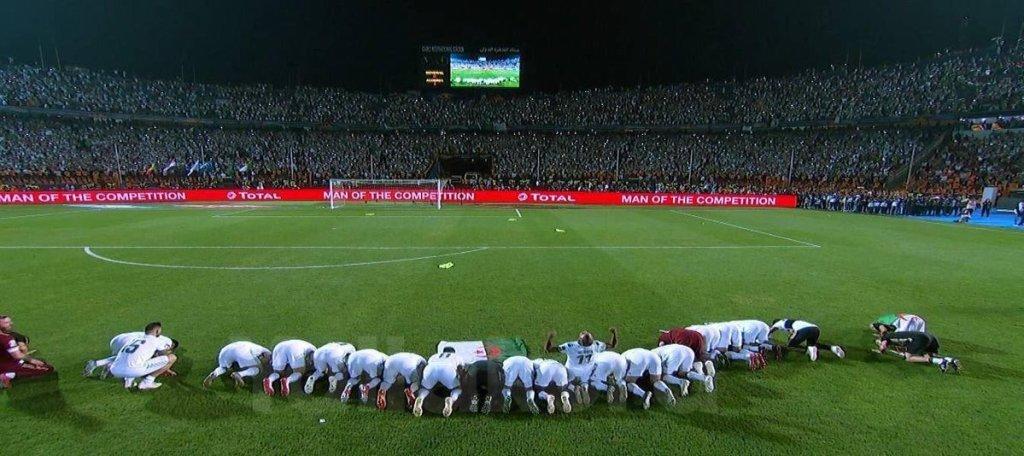منتخب الجزائر يتوج بطلا لكأس أمم افريقيا بعد اتتصاره على السنغال بهدف بونجاح