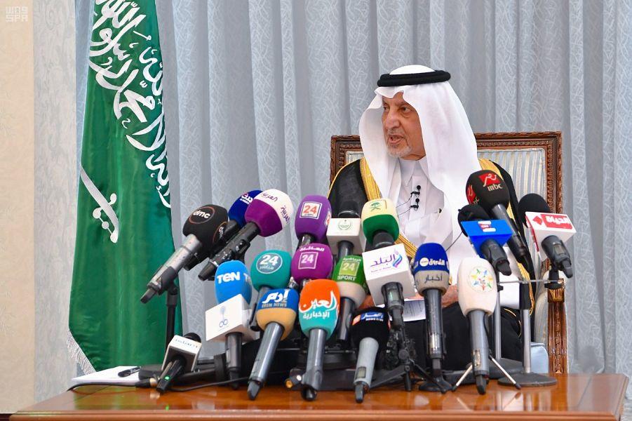 كاشفا أن عدد الحجاج بلغ نحو مليونين نصف..الأمير خالد الفيصل: الحج للعبادة فقط ولا يناقش بالحج أي أمر آخر