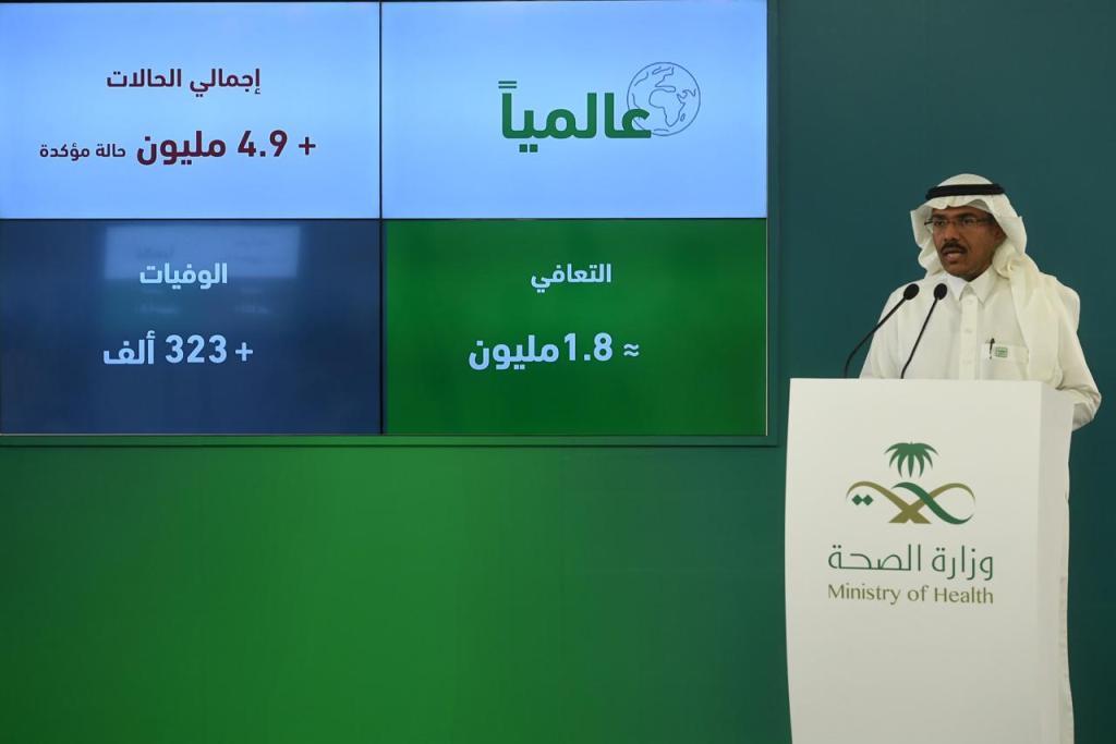 الصحة: تسجيل 2691حالة جديدة مصابة بفيروس كورونا و 1844 حالة تعافي في السعودية