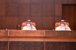 وزير الرياضة يستعرض مع رؤساء أندية دوري كأس الأمير محمد بن سلمان للمحترفين استراتيجية الدعم
