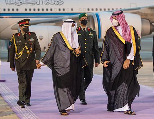 الأمير محمد بن سلمان يستقبل ولي عهد دولة الكويت