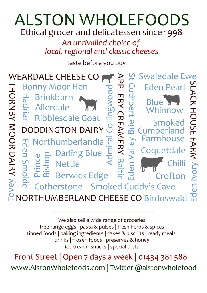 Alston Wholefoods Local Cheeses Poster A4