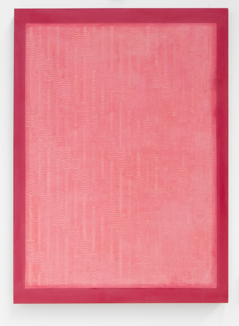 Adia Wahid_Ditto Pink_Oil and screen print on linen_95 cm x 130 cm_2018 copy