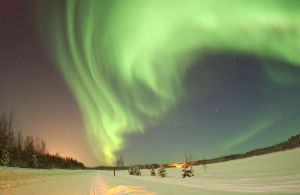 Photo of Aurora Borealis by Senior Airman Joshua Strang