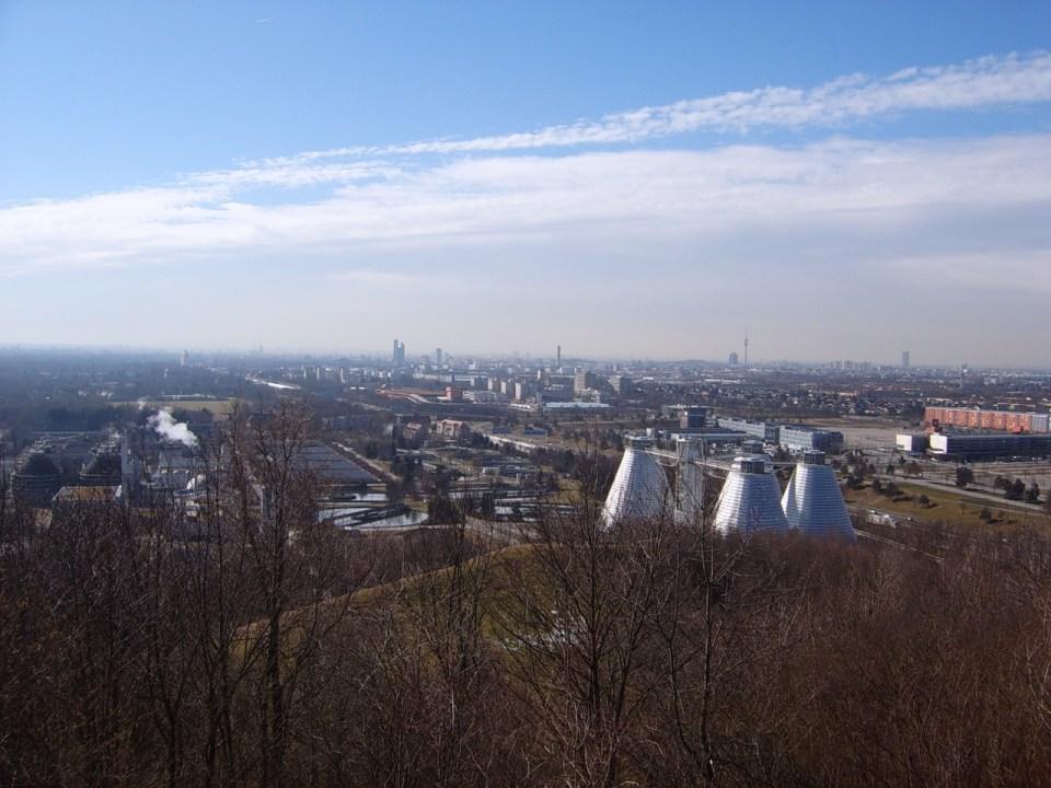 München Nord vom Windrad aus