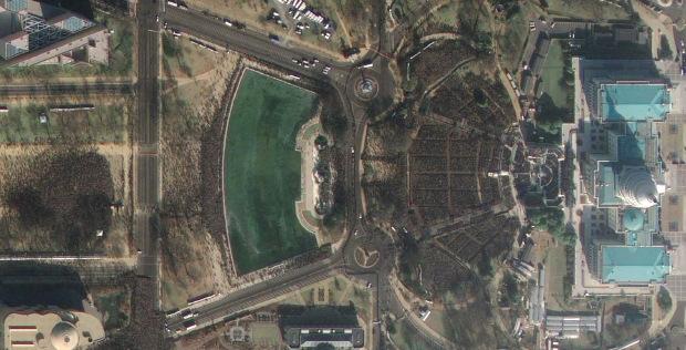 La toma de posesión de Barack Obama, vista desde el espacio