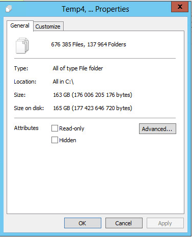 29 - Size of files to be deleted