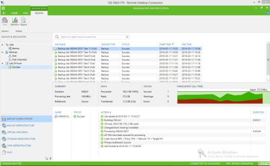 33 - Test 11 - Veeam GUI