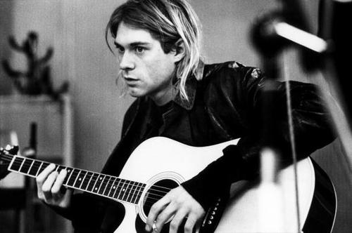 Kurt COBAIN recording in Hilversum Studios (Photo by Michel Linssen/Redferns)