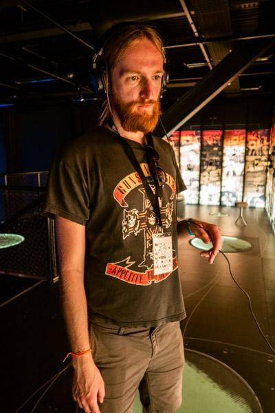 Eduard Visiting Ragnarock, the museum honoring the Roskilde Festival